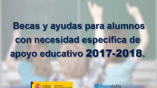 Abierto el plazo de Becas y ayudas para alumnos con necesidad específica de apoyo educativo 2017-2018