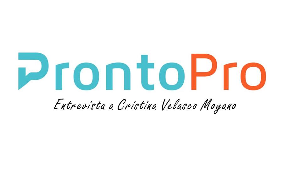 ProntoPro Blog: entrevista a Cristina Velasco Moyano